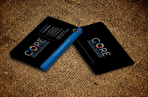 colorful circle business card