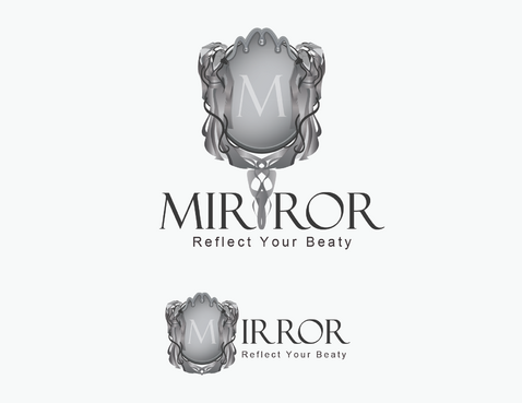 mirror with words logo
