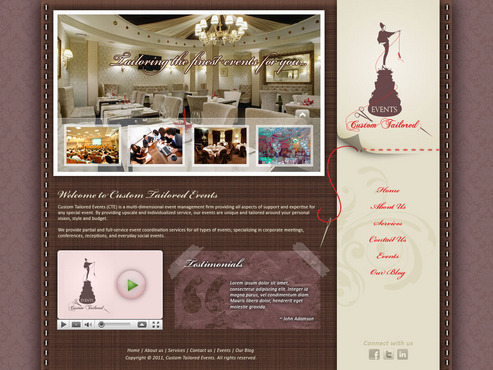 Custom Tailored Events Website Web Design  Draft # 85 by saeedrafay