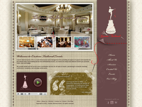 Custom Tailored Events Website Web Design  Draft # 86 by saeedrafay