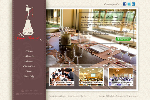 Custom Tailored Events Website Web Design  Draft # 90 by saeedrafay