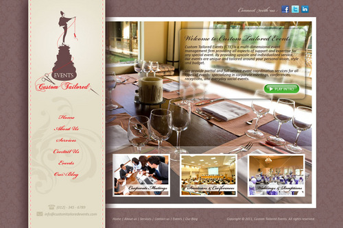 Custom Tailored Events Website Web Design  Draft # 91 by saeedrafay