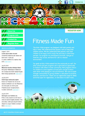 Fitness Made Fun Web Design  Draft # 1 by green2011