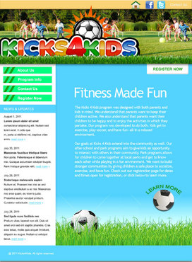 Fitness Made Fun Web Design  Draft # 2 by green2011