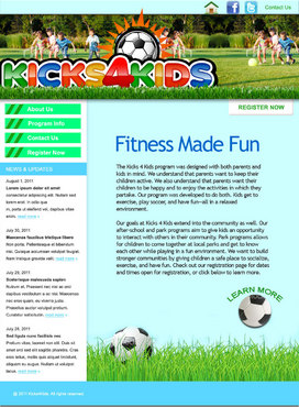 Fitness Made Fun Web Design  Draft # 3 by green2011
