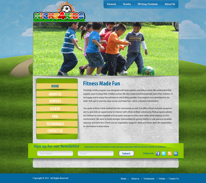 Fitness Made Fun Web Design  Draft # 4 by momee