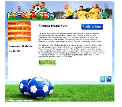Fitness Made Fun Web Design  Draft # 5 by 0Tricia