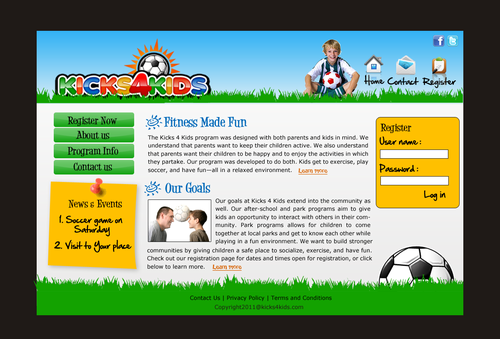 Fitness Made Fun Web Design  Draft # 8 by einsanimation
