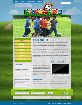 Fitness Made Fun Web Design  Draft # 9 by momee