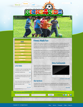 Fitness Made Fun Web Design  Draft # 10 by momee