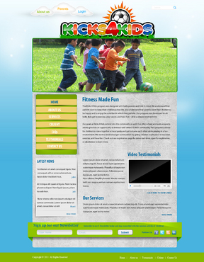Fitness Made Fun Web Design  Draft # 11 by momee