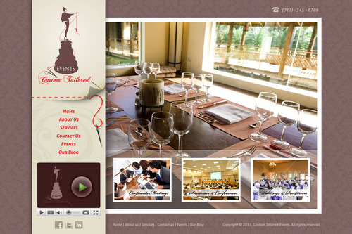 Custom Tailored Events Website Web Design  Draft # 108 by saeedrafay