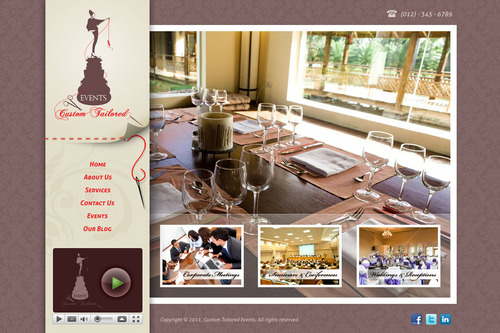 Custom Tailored Events Website Web Design  Draft # 109 by saeedrafay