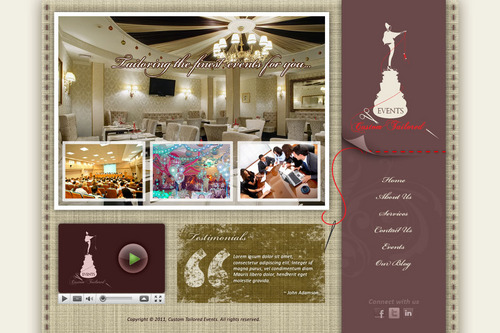 Custom Tailored Events Website Web Design  Draft # 110 by saeedrafay