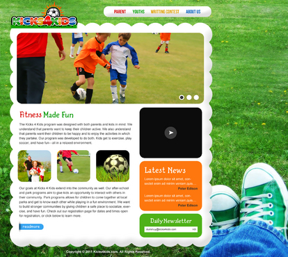 Fitness Made Fun Web Design  Draft # 17 by aayanraza