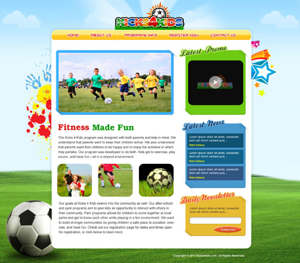 Fitness Made Fun Web Design  Draft # 19 by aayanraza
