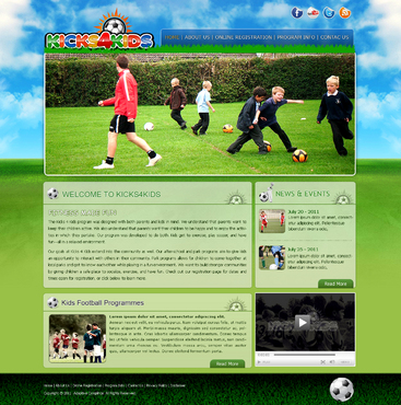 Fitness Made Fun Web Design  Draft # 22 by InnovativeDesigner