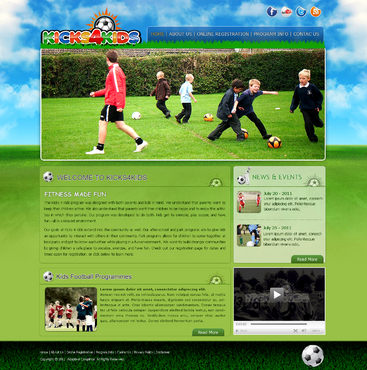 Fitness Made Fun Web Design  Draft # 23 by InnovativeDesigner