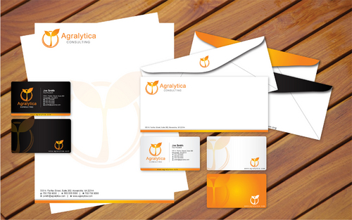 Stationery materials - letterhead paper, envelopes, business cards