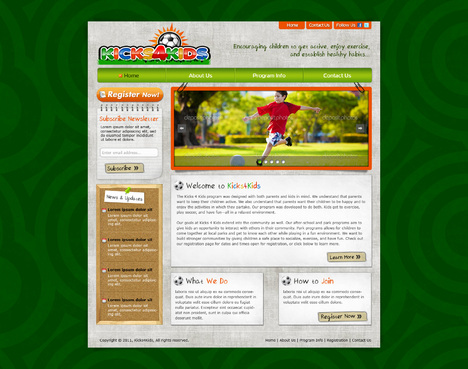 Fitness Made Fun Web Design  Draft # 66 by riaaki