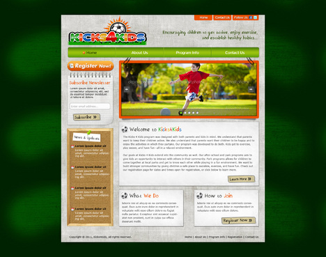 Fitness Made Fun Web Design  Draft # 67 by riaaki