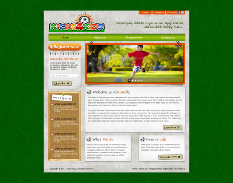 Fitness Made Fun Web Design  Draft # 68 by riaaki