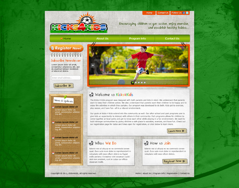 Fitness Made Fun Web Design  Draft # 69 by riaaki