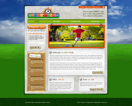 Fitness Made Fun Web Design  Draft # 70 by riaaki