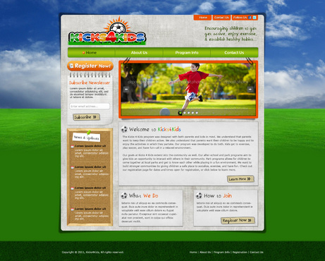 Fitness Made Fun Web Design  Draft # 71 by riaaki