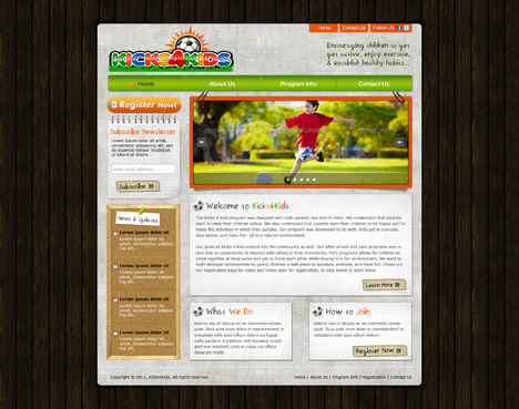 Fitness Made Fun Web Design  Draft # 72 by riaaki