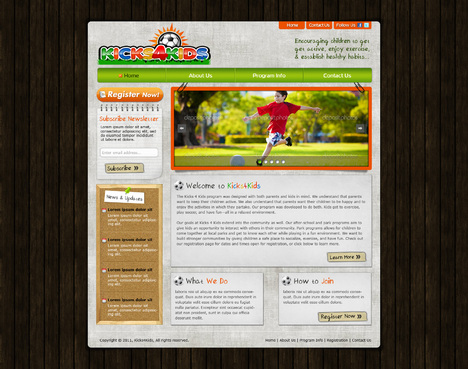Fitness Made Fun Web Design  Draft # 73 by riaaki