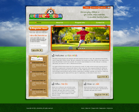 Fitness Made Fun Web Design  Draft # 76 by riaaki
