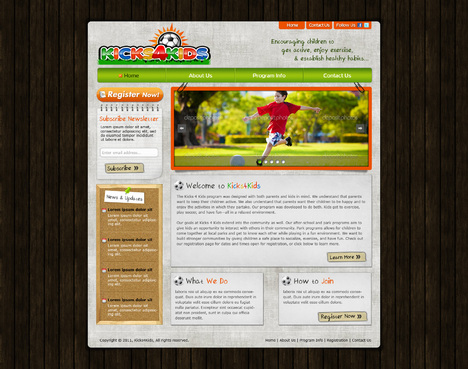 Fitness Made Fun Web Design  Draft # 77 by riaaki