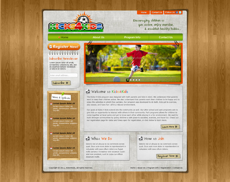 Fitness Made Fun Web Design  Draft # 78 by riaaki