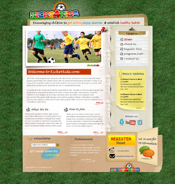 Fitness Made Fun Web Design  Draft # 99 by smartinfo