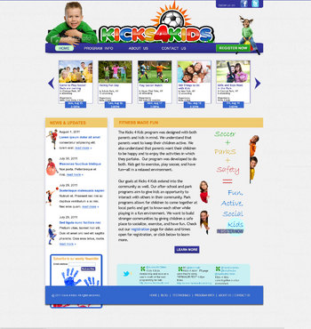Fitness Made Fun Web Design  Draft # 100 by green2011