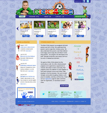 Fitness Made Fun Web Design  Draft # 101 by green2011