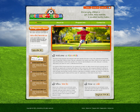 Fitness Made Fun Web Design  Draft # 115 by riaaki
