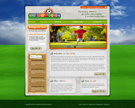 Fitness Made Fun Web Design  Draft # 116 by riaaki