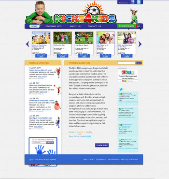 Fitness Made Fun Web Design  Draft # 117 by green2011