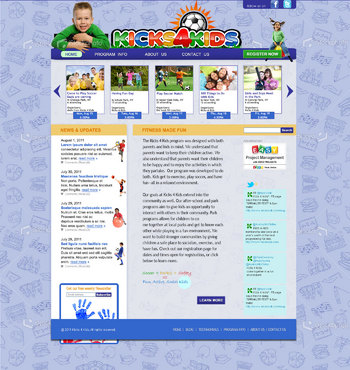 Fitness Made Fun Web Design  Draft # 118 by green2011