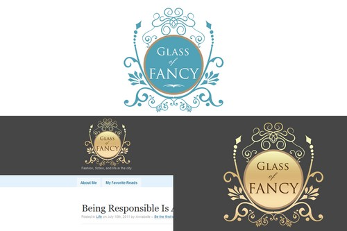 Glass of Fancy A Logo, Monogram, or Icon  Draft # 106 by Whisperer
