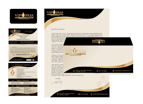 Business Cards, Letterhead, Envelopes