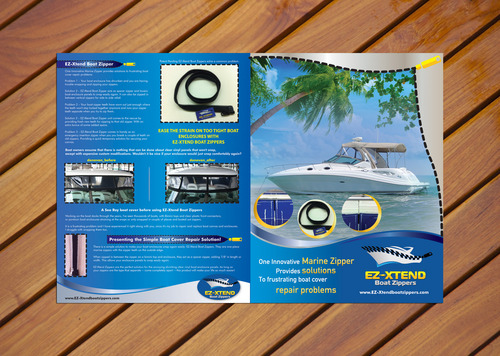I need a brochure that can make my product clear and easy to understand for boat owners.