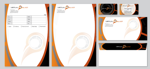 Business card and stationary and fax design