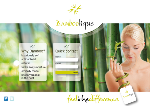 Holding Page for www.Bambootique.com