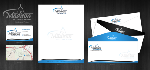 Business card design for Madison Automotive