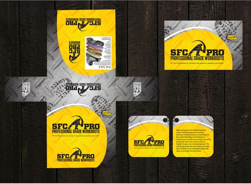 Shoe box design , 2 hang tag designs
