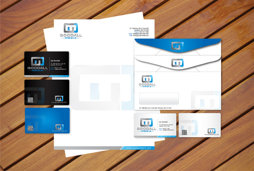 business card, letterhead, envelope, cd label