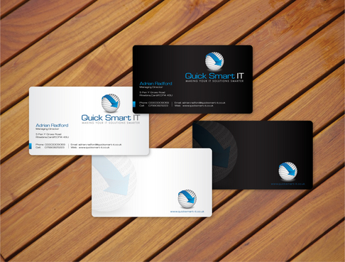 Quick Smart IT Business Cards and Stationery  Draft # 9 by cArnn